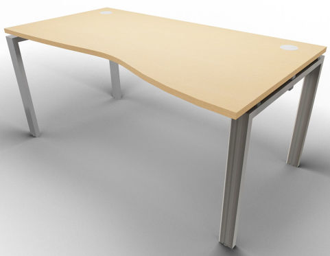 Saturn Single Wave Desk Beech Raw