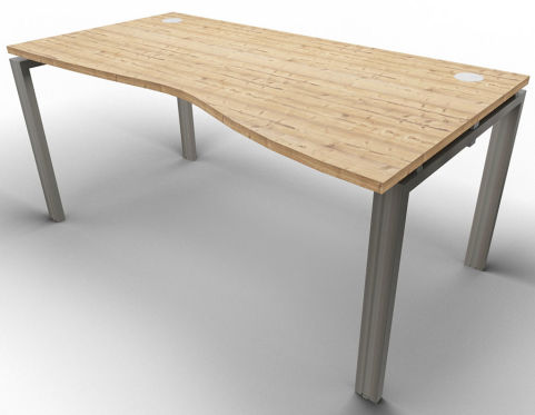 Saturn Single Wave Desk Timber Raw
