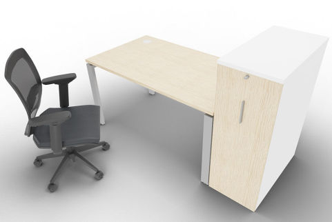 Saturn One Person Bench And Ped Oak Mood View