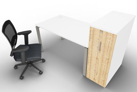 Saturn One Person Bench And Ped Timber Mood View