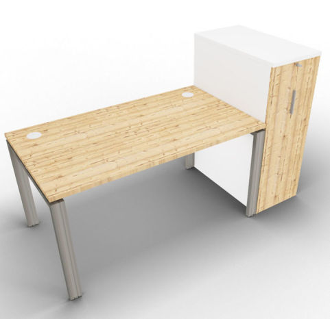 Saturn One Person Bench And Ped Timber Tall Closed