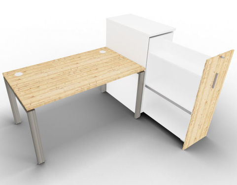 Saturn One Person Bench And Ped Timber Tall Open