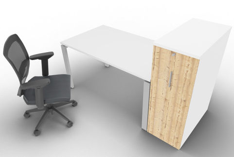 Saturn One Person Bench And Ped White Mood View