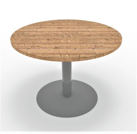 Circular Meeting Table Timber Wood