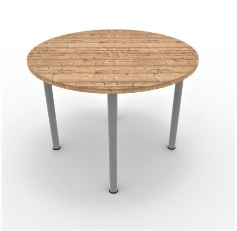 Optimize Circular Meeting Table 4 Legs Timber Finish