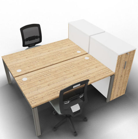 Saturn 2 Person Bench Timber High