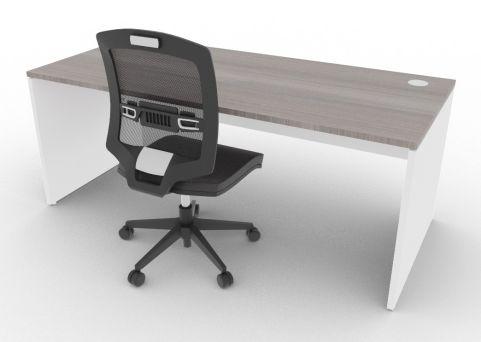 Oslo Rectangular Desk Cedar And White Mood View