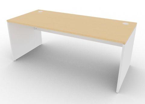 Oslo Rectangular Desk Beech And Light Grey