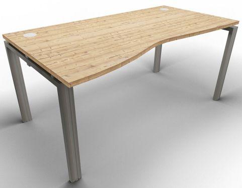 Saturn Single Left Hand Wave Desk Timber Raw