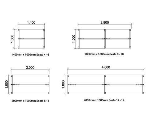 Saturn Boardroom Table Dimensions 1000mm Wide