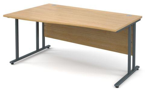 GM Left Hand Wave Desk Oak With Graphite Frame