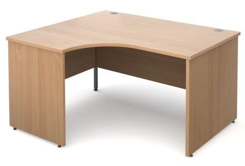 GM Left Hand Corner Panel Desk Beech