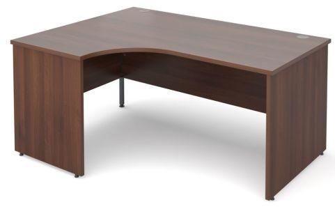 GM Left Hand Corner Panel Desk Walnut