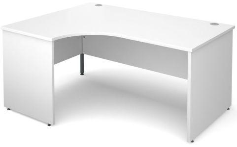 GM Left Hand Corner Panel Desk White