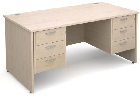 Gm Panel Side Desk With Two Sets Of Three Drawers