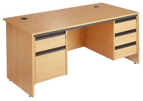 Maddellex Desk With Two Pedestals