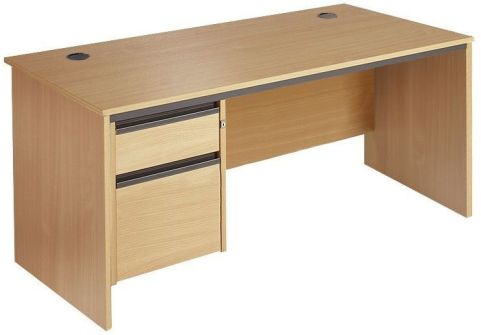 Maddellex Panel Desk With Two Drawers Beech