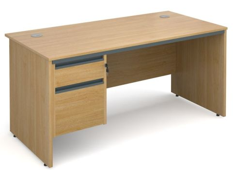 Maddellex Panel Desk With Two Drawers Oak