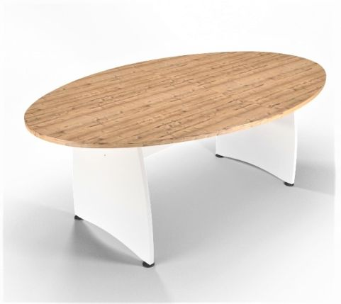 Optimize Table Timber And White