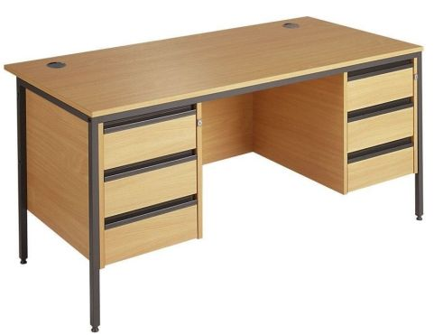 Maddellex Double Three Drawer Pedestal Desks