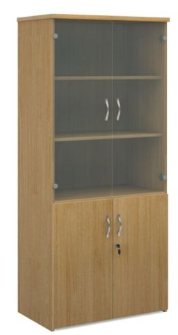 Momento Combination Cupboard With Glass Oak