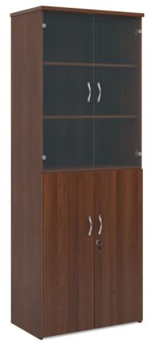 Momento Combination Cupboard With Glass Walnut