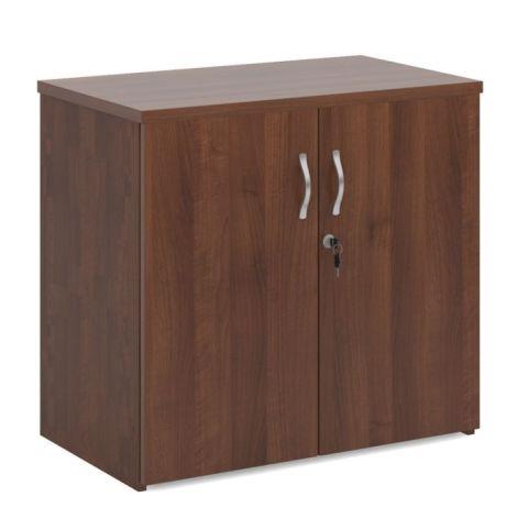 Momento Desk End Cupboard Walnut