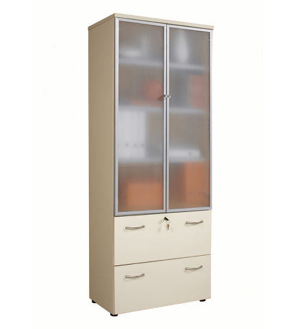 Scaffali Low Cost.Scaffali Combi Cupboard With Glass Doors And Filing Drawers