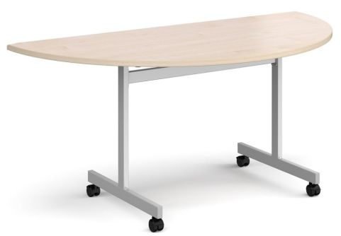 Gm Half Moon Flip Top Table Maple