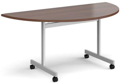 Gm Half Moon Flip Top Table Walnut