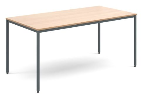 Flexi Rectangular Table Beech And Graphite