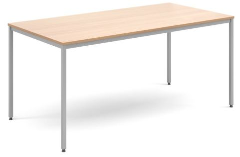 Flexi Rectangular Table Beech And Silver