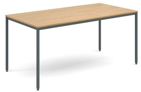 Flexi Rectangular Table Oak And Graphite