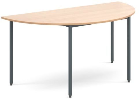 Flexi Half Moon Table Beech And Graphite