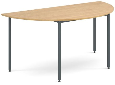 Flexi Half Moon Table Oak And Graphite