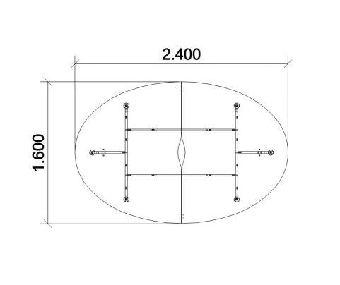2400mm X 1600mm