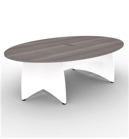 Elanci Table Cedar With White Base