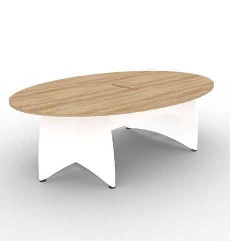 Elacia Table Timber Top White Base 2400mm X 1600mm