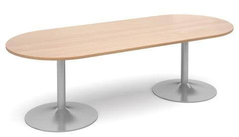 Topo Oval Meeting Table Beech