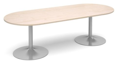 Topo Oval Meeting Table Maple