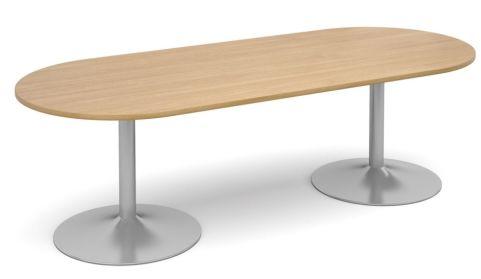 Topo Oval Meeting Table Oak