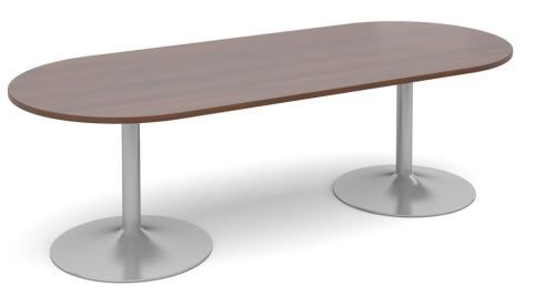 Topo Oval Meeting Table Walnut