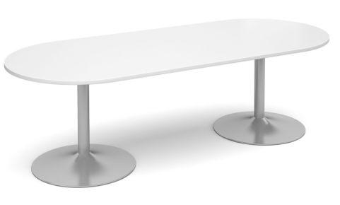 Topo Oval Meeting Table White