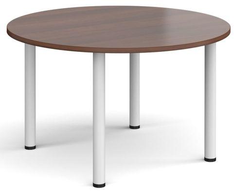 Raste Circular Meeting Table Walnut And White