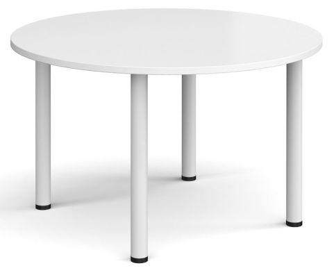 Raste Circular Meeting Table White And White