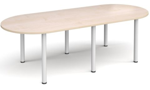 Raste D End Meeting Table Maple And White