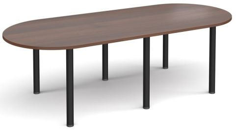Raste D End Meeting Table Walnut And Black
