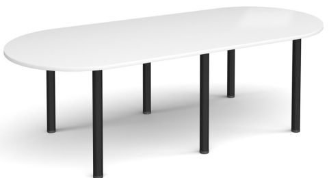 Raste D End Meeting Table White And Black