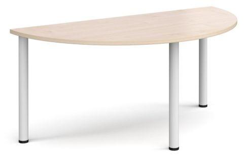 Raste Half Moon Meeting Table Maple And White