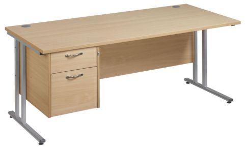 Gm Cantilever Desk Two Drawer Pedestal